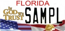 Florida InGod we trust license plate